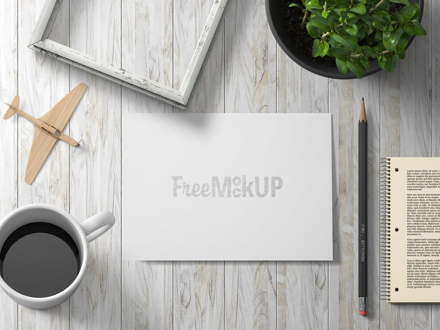 A6 BiFold Greeting Card Poster mockup free, Poster