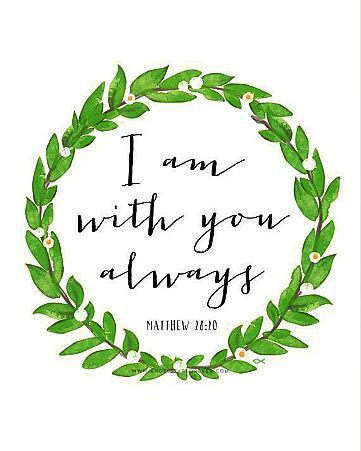 Image result for lo i am with you always bible verse