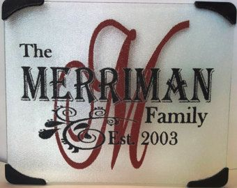 """Personalized 12"""" x 15"""" Cutting Board. This would make a great Christmas, Anniversary, Birthday, Wedding or a nice House Warming Gift"""