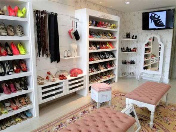 Prateleiras De Loja De Sapatos Femininas,Sapatos Mdf De