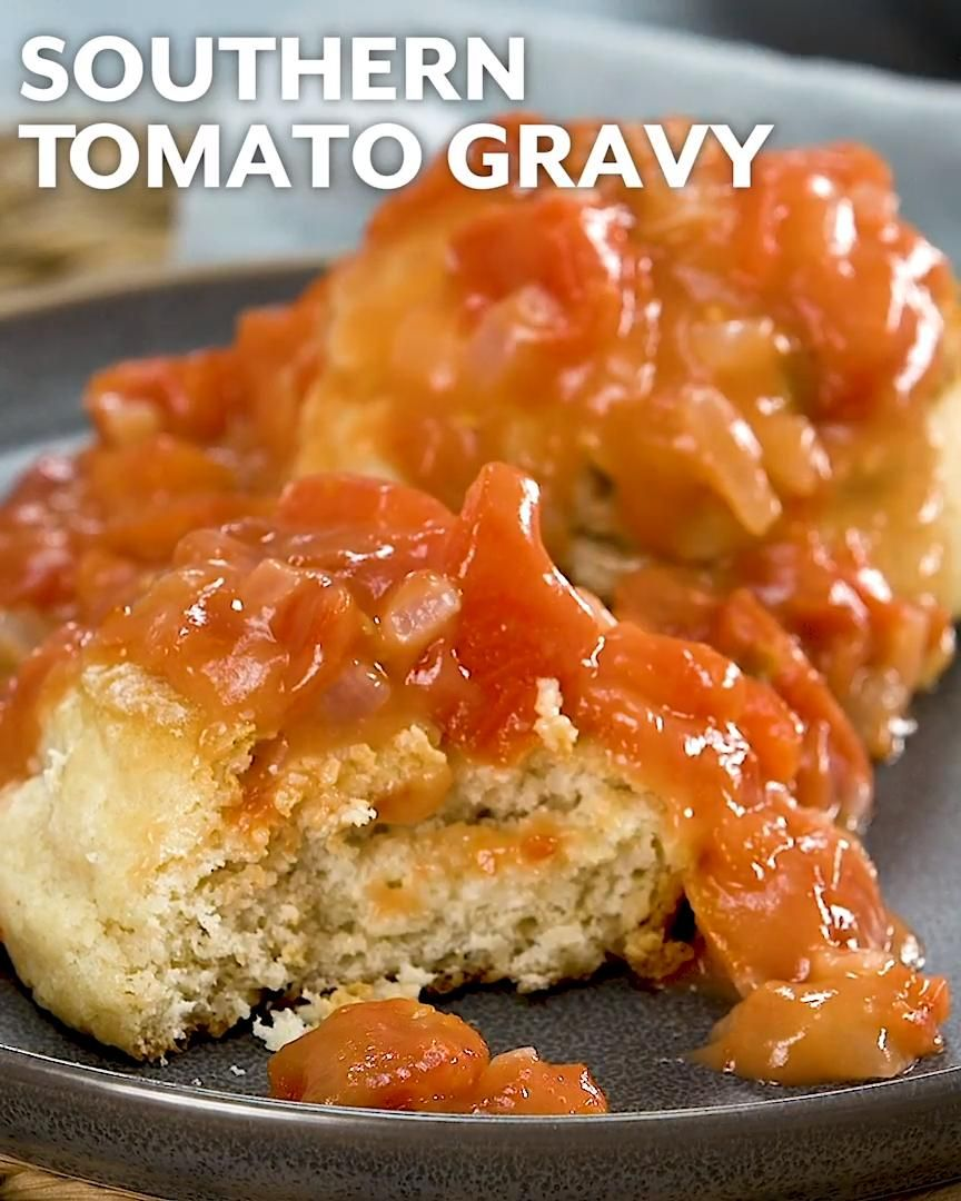 Tomato gravy is a home kitchen specialty rarely seen in restaurants. Made with finely chopped tomatoes and their juices, rather than stock or milk, the recipe is rooted in Appalachia and might have originated as a delicious solution when a cook had no milk on hand. #tomatogravy #gravyrecipe #nomilkgravy #southernliving