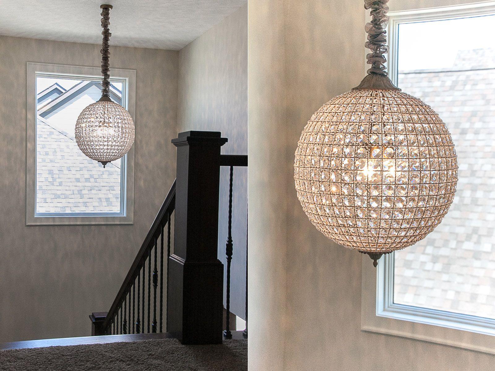 Crystal stairway chandelier chandeliers pinterest custom crystal stairway chandelier arubaitofo Images