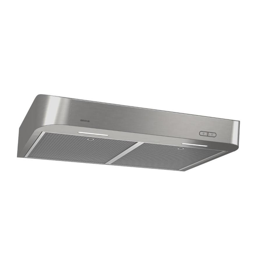 Broan Undercabinet Range Hood Stainless Common 30 In Actual 7 125 In Stainless Range Hood Range Hoods Black Stainless Steel