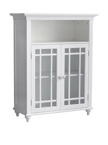 Elegant Home Fashions Neal 2 Door Floor Cabinet In White Elegant Homes House Styles Furniture