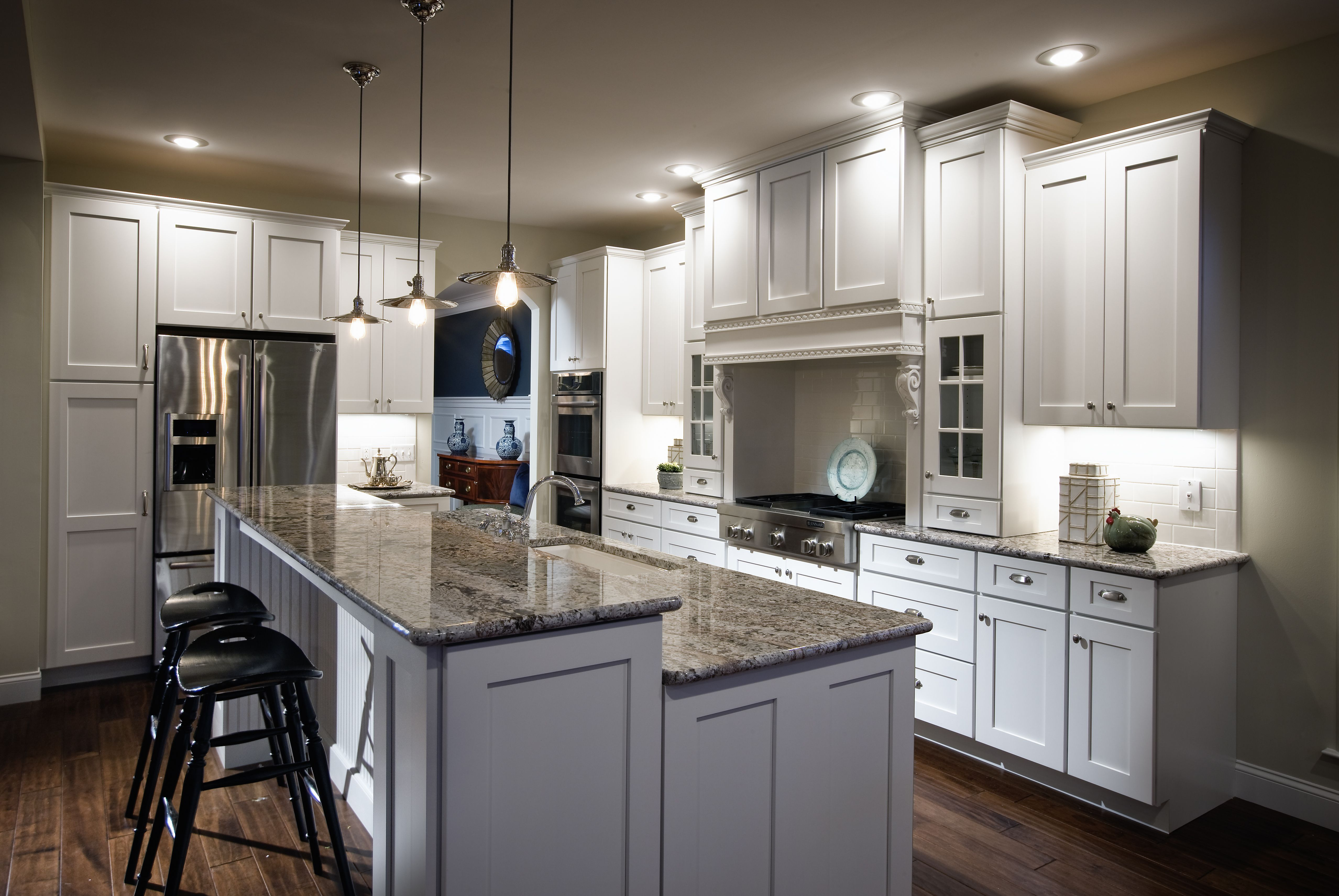 White wooden kitchen island with gray marble counter top and white future home pinterest - Delightful kitchen decoration with various home kitchen bar shelving ideas ...
