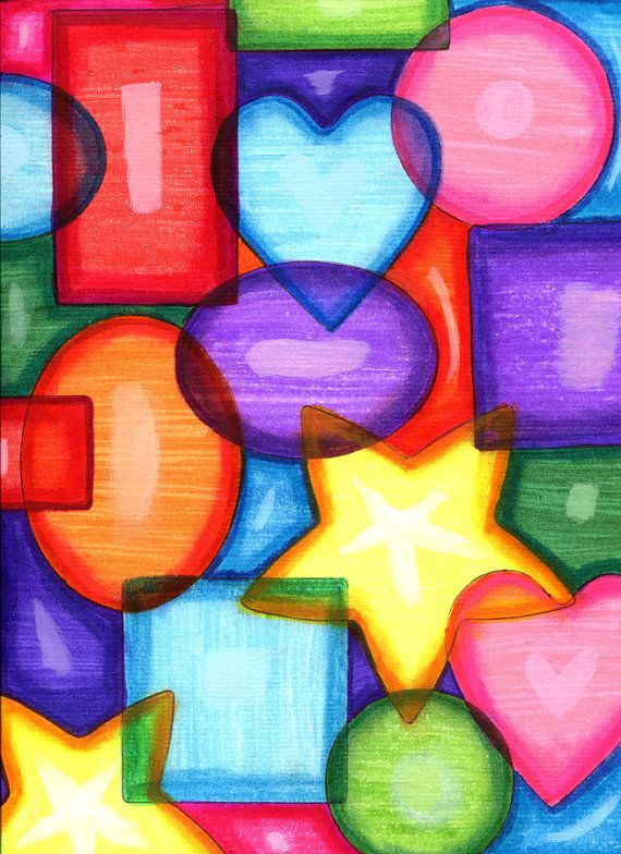 entwined shapes abstract art original pop by ...