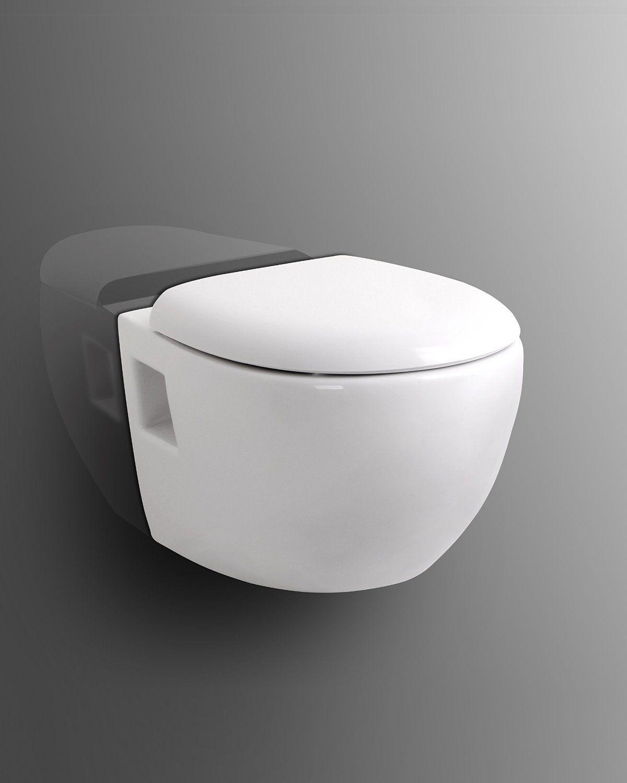 Wand WC weiß + WC Sitz / Deckel mit Soft Close + Quick