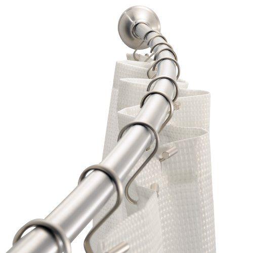 Interdesign Adjustable Curved Shower Rod 41 Inch To 72 Inch