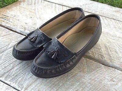 b9308aab76a SAS Tripad Comfort Navy Blue Tassle Leather Loafers Shoes Women s Size 7.5 M