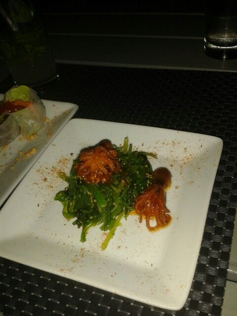 Oishi Seaweed Salad From Lemongrass Noodle Bar Served Vwith Baby