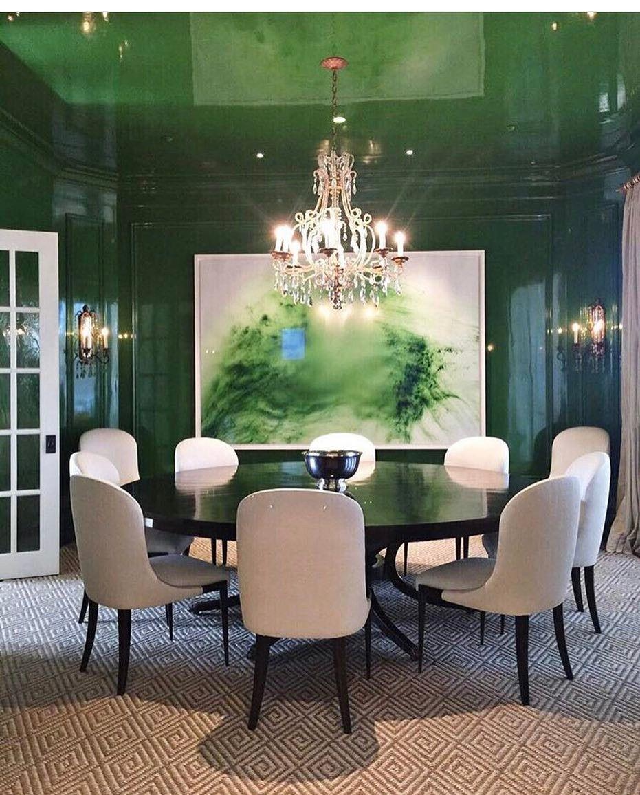 Grünes esszimmer design green jewel box  dining room  art  pinterest  haus und ideen
