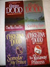 LOT OF 4 CHRISTINA DODD HISTORICAL ROMANCE DUOS PRINCESS & MY FIRST PAPERBACKS