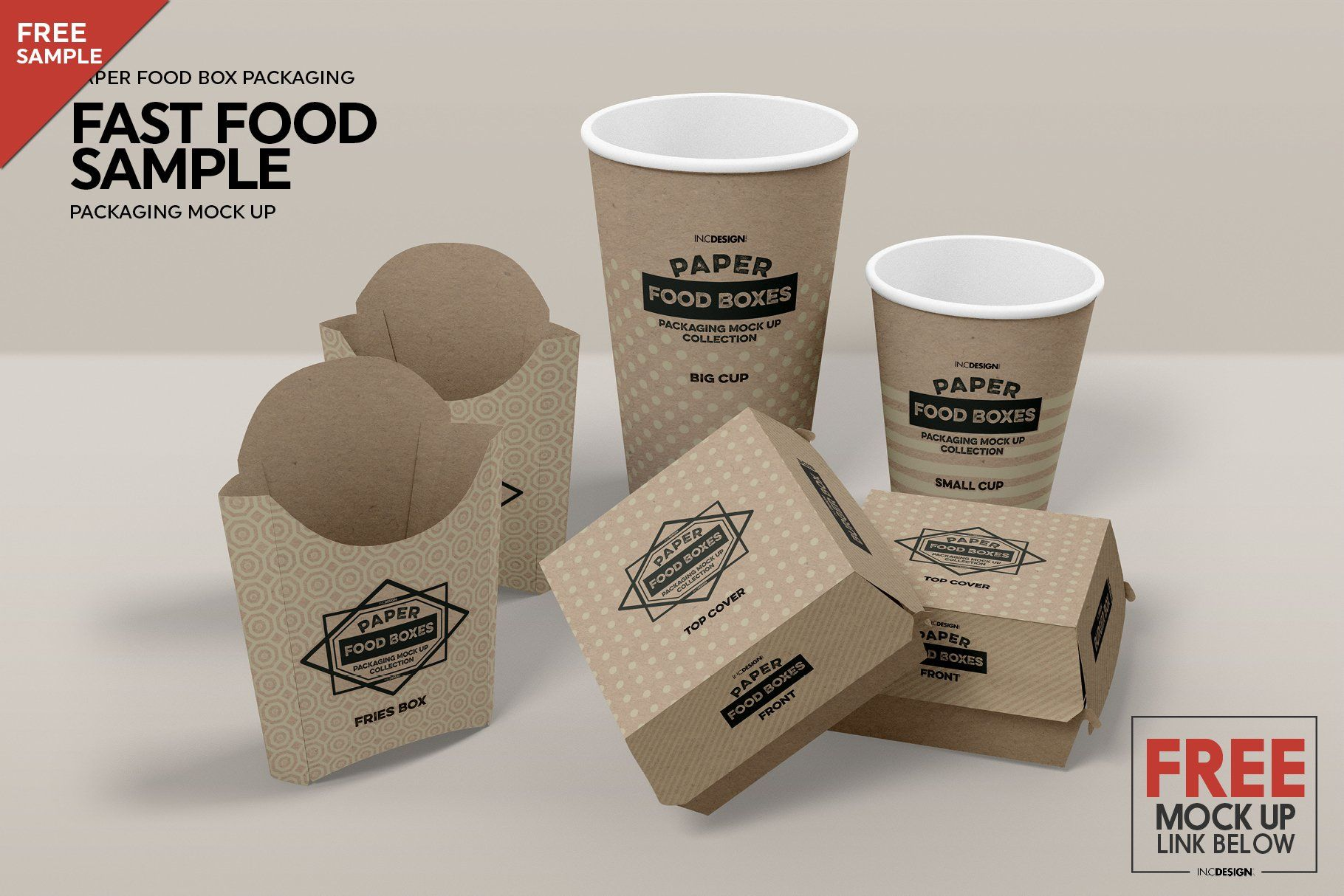 Salad Food Box Packaging Mockup Packaging Mockup Free Fast Food Food Mockup