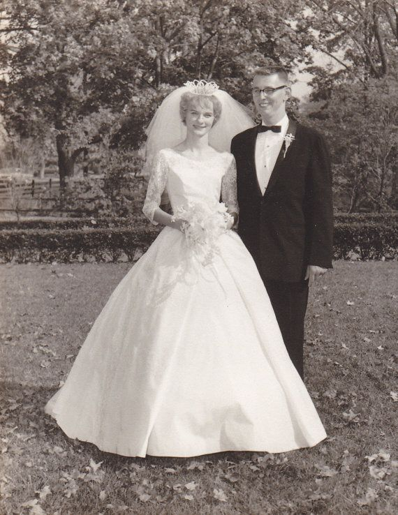 Vintage Photos Family Photo Girl Bride Fancy Wedding by ljpsales
