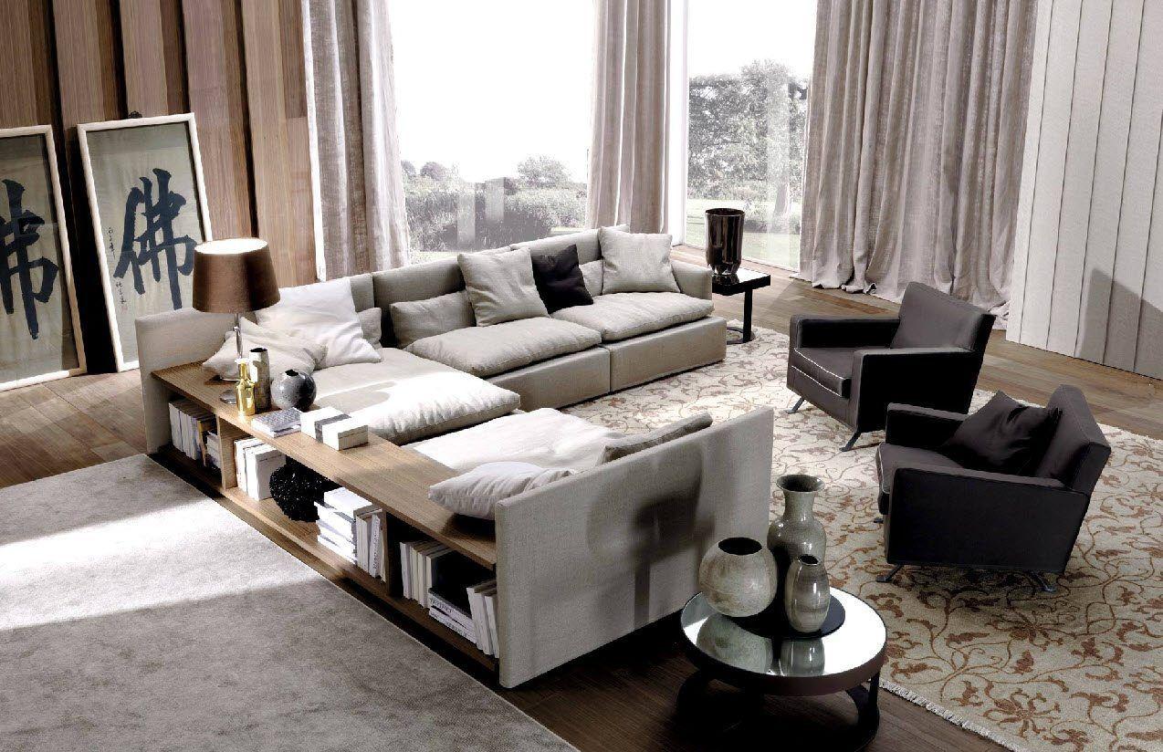 contemporary corner sofa storage dominio medium at behind sofa design eck polsterung holzregale domino von frigerio