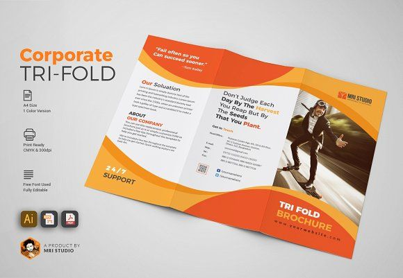 Simple TriFold Brochures Creativework  Brochure Design