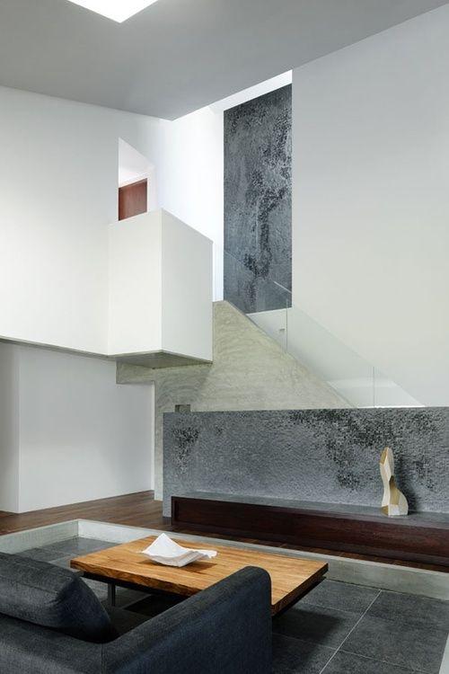 Concrete | minimal living room | interiors | interior design.