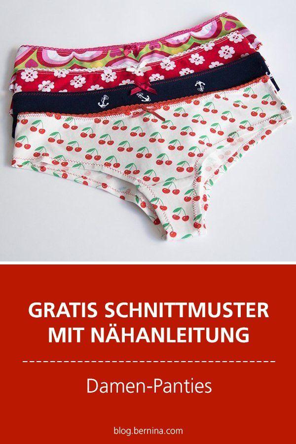 Gratis-Schnittmuster & Nähanleitung: Damen-Panties