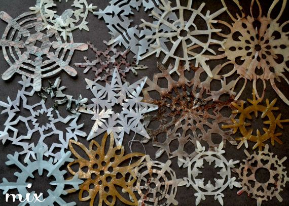 Waxed Paper Snowflakes  Set of 15  Featured on by ShopFleurElise