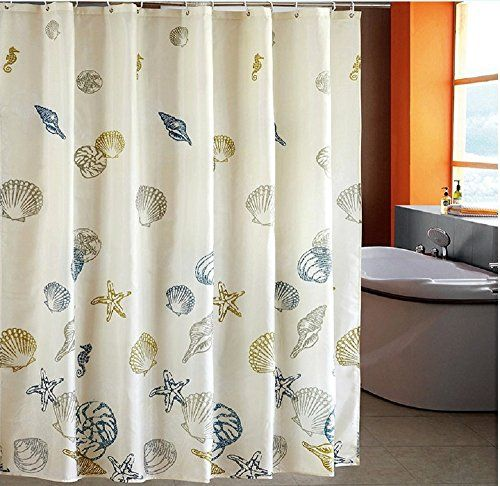 Extra Wide Fabric Shower Curtain Set Shower Curtain Hooks Rings