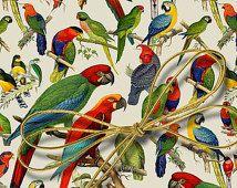 Vögel - drucken Sie Ihre eigenen Verpackung Papier Collage Sheet druckbare Download Digitalbilder für Geschenke, Scrapbooking, Stoff oder Eisen auf Übertragung
