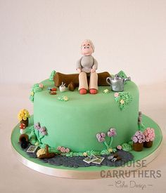 Perfect Birthday Cake   Gardening U003cu003c By Cirencester Cupcakes/ Louise Carruthers Cake  Design By Penny