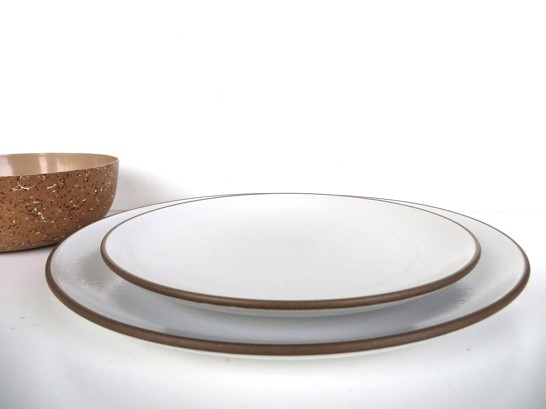 Set Of 2 Heath Ceramics Coupe Dinner Plates In Opaque