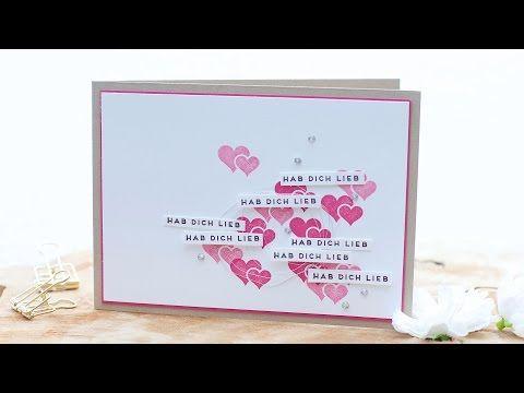 Schön Valentinskarte   Hab Dich Lieb #video U2022 Stempelwiese
