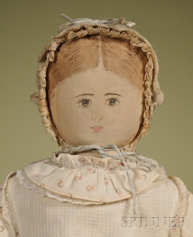 Moravian Cloth Doll by Polly Heckewelder | Sale Number 2476, Lot Number 63 | Skinner Auctioneers