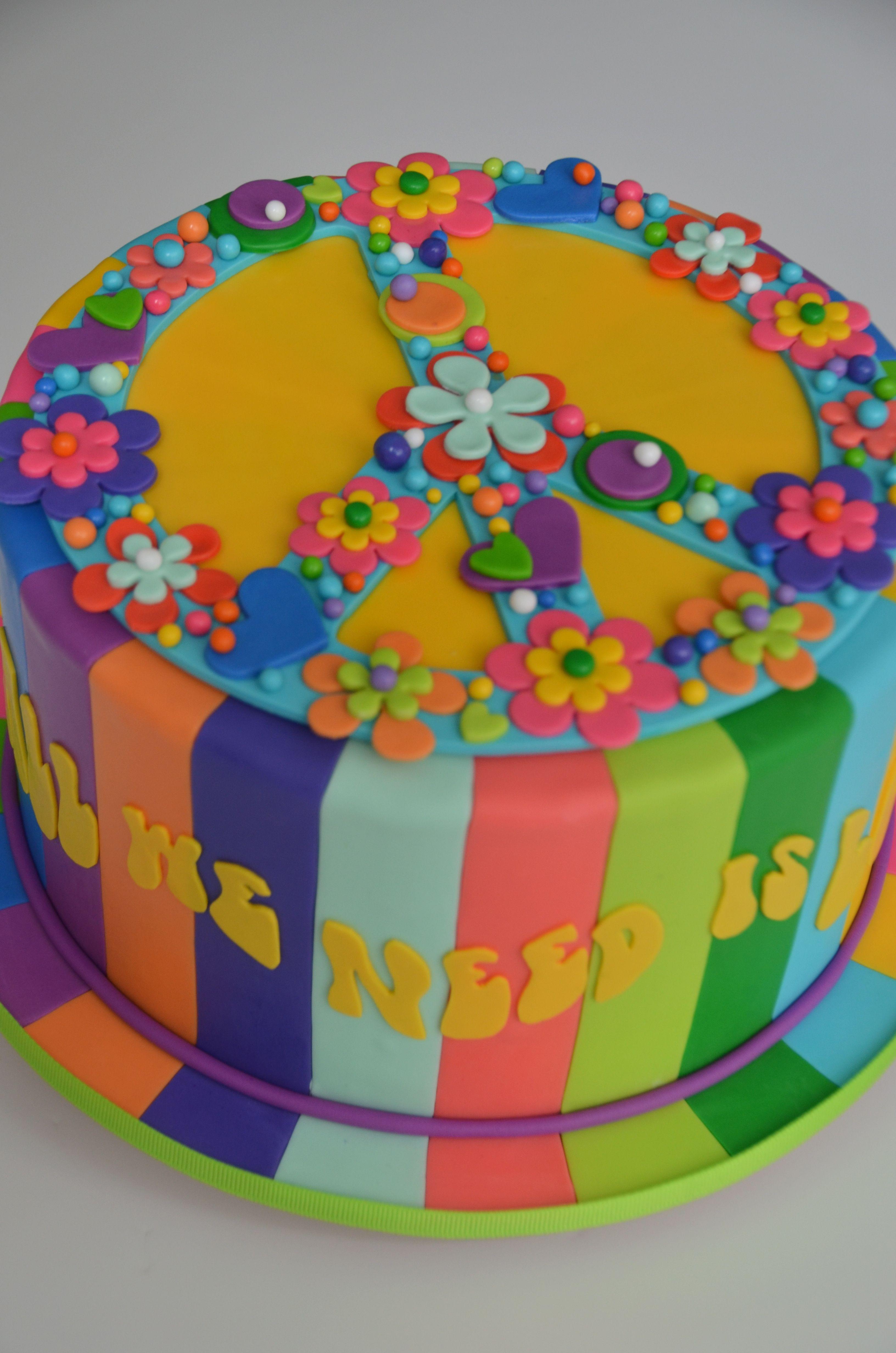 Pleasing Peace Cake Moxy Mx Peace Cake Pretty Cakes Cake Personalised Birthday Cards Cominlily Jamesorg
