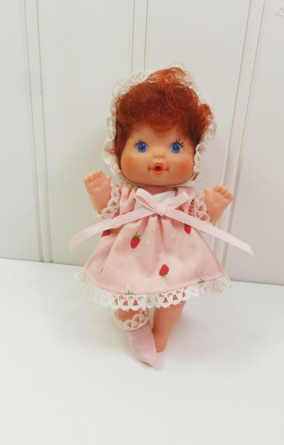 Vintage Strawberry Shortcake Drink & Wet Baby Doll by ...