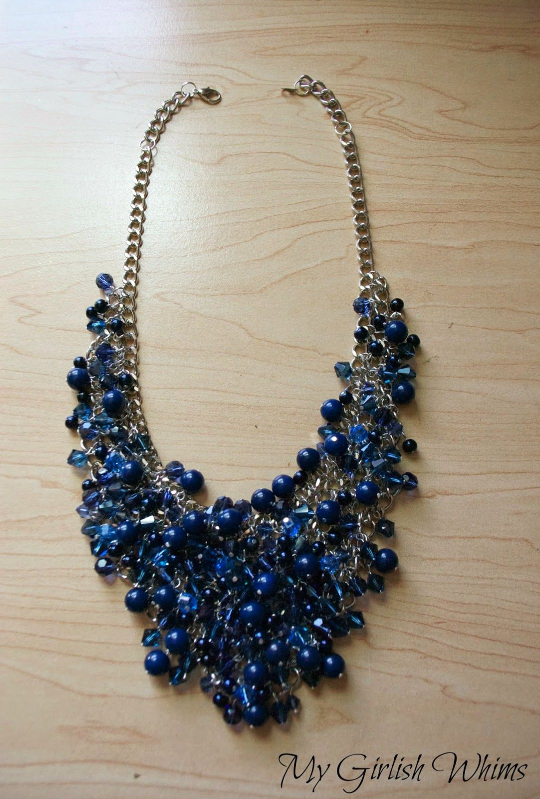 I\'ve got another statement necklace tutorial to share! DIY Bead ...