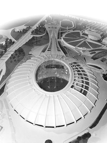 Olympic Stadium Montreal Canada Stadium Architecture Stadium Design Stadium
