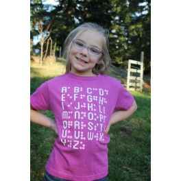 Infant- Youth Braille Alphabet T-shirts