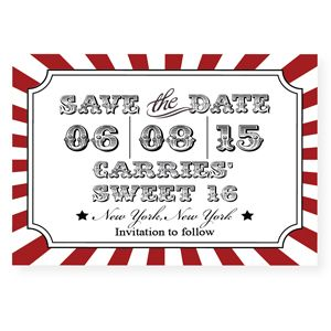 Circus save the date magnet 10 pieces magnets 80 birthday and circus save the date magnet 10 pieces bookmarktalkfo Images
