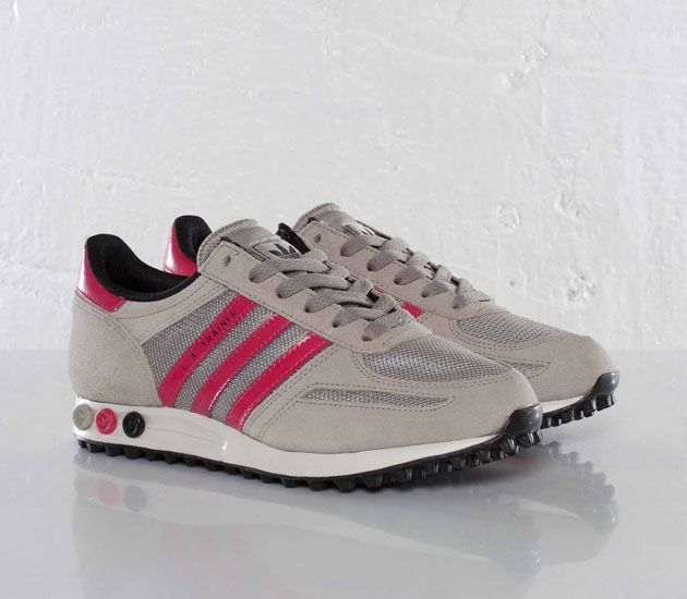 Trendy Women's Sneakers 2017/ 2018 : adidas Originals LA Trainer W –  Collegiate Silver / Blaze Pink – Bla... - Fashion Inspire | Fashion  inspiration ...