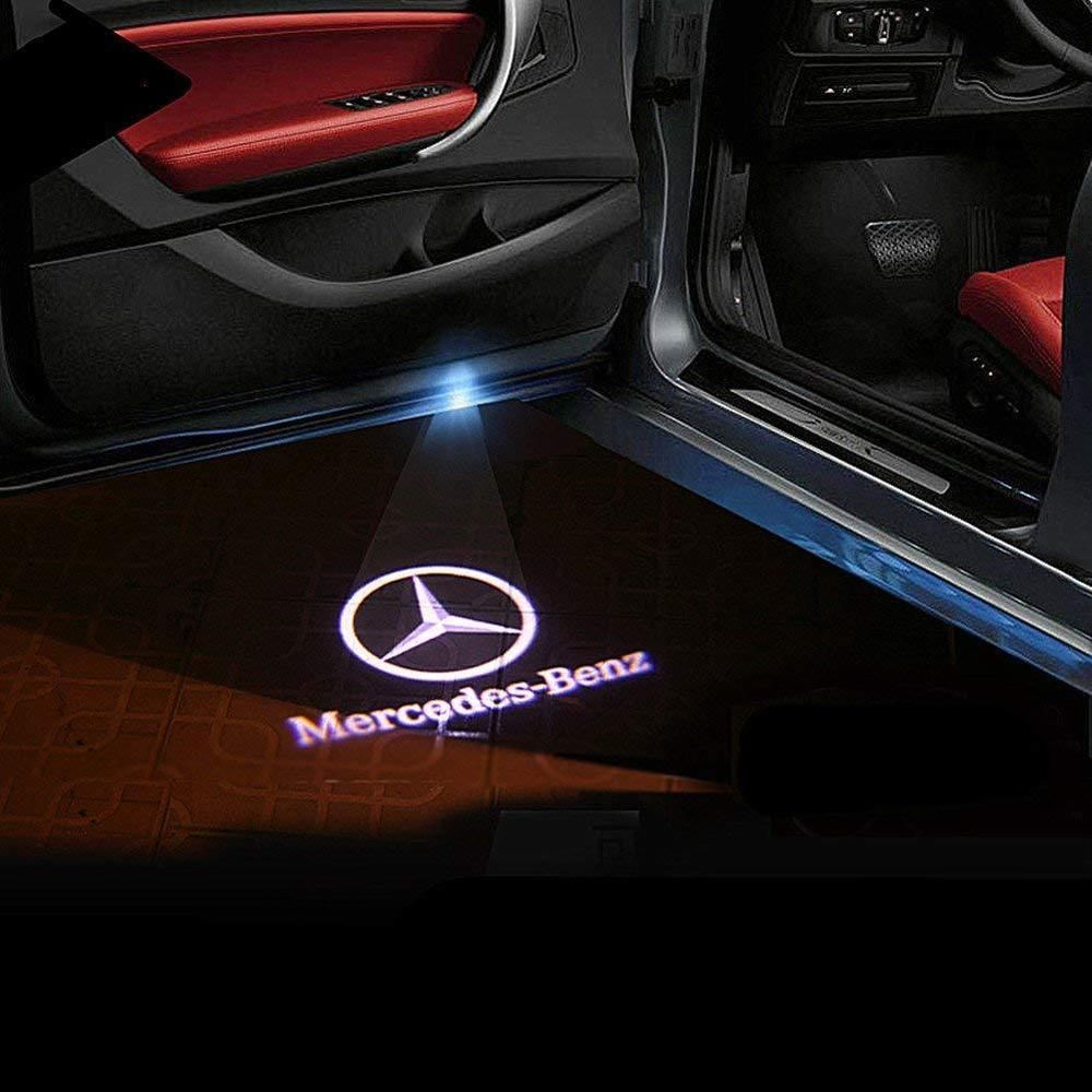 Wfb Car Door Led Logo Hd Projector Easy Installation Shadow Lights 2pcs Cla Cls Mercedes Benz Mercedes Benz