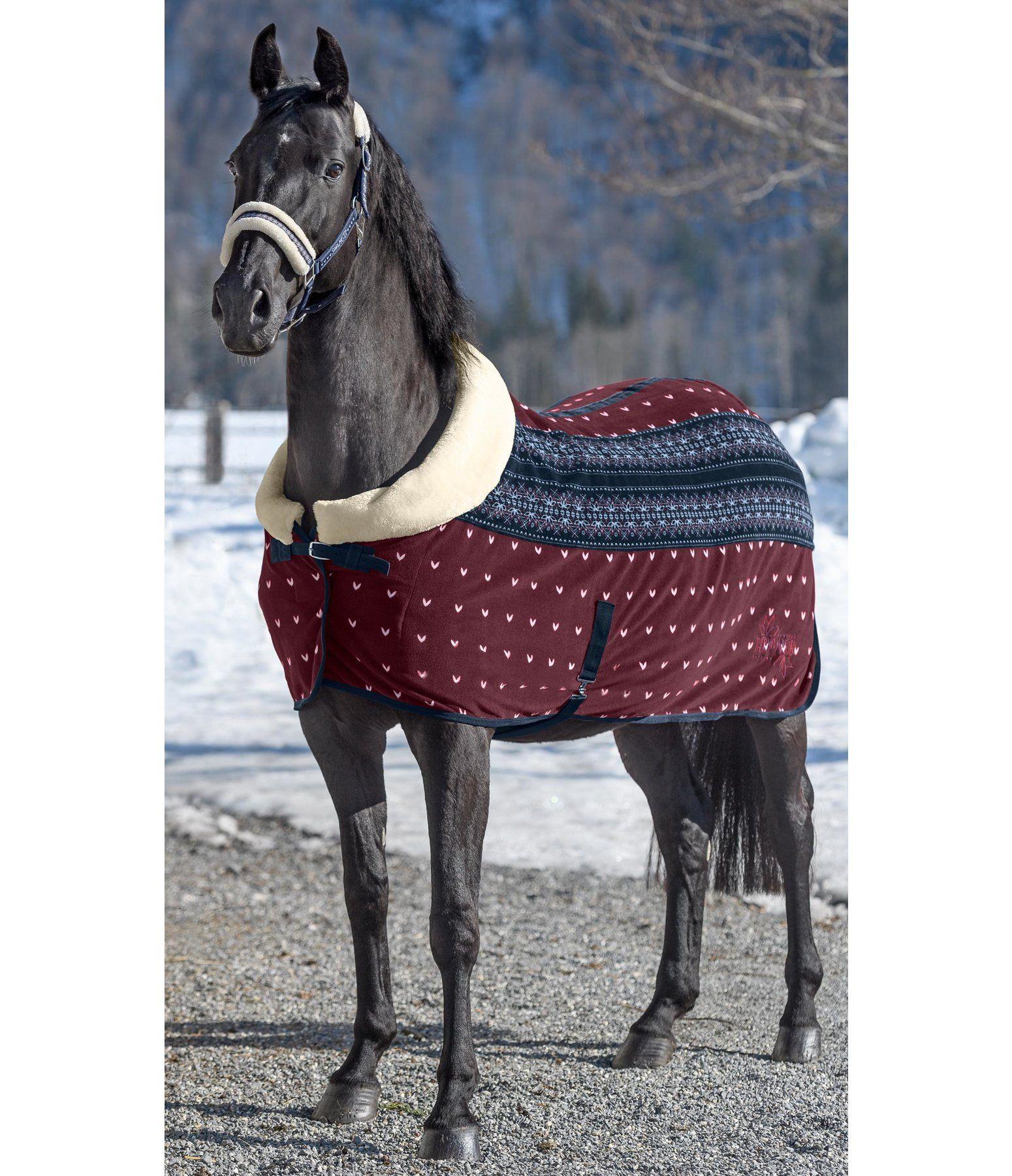 Fleecedecke Lovely Norway Schwarze Pferde Pferdedecke Und Pferde