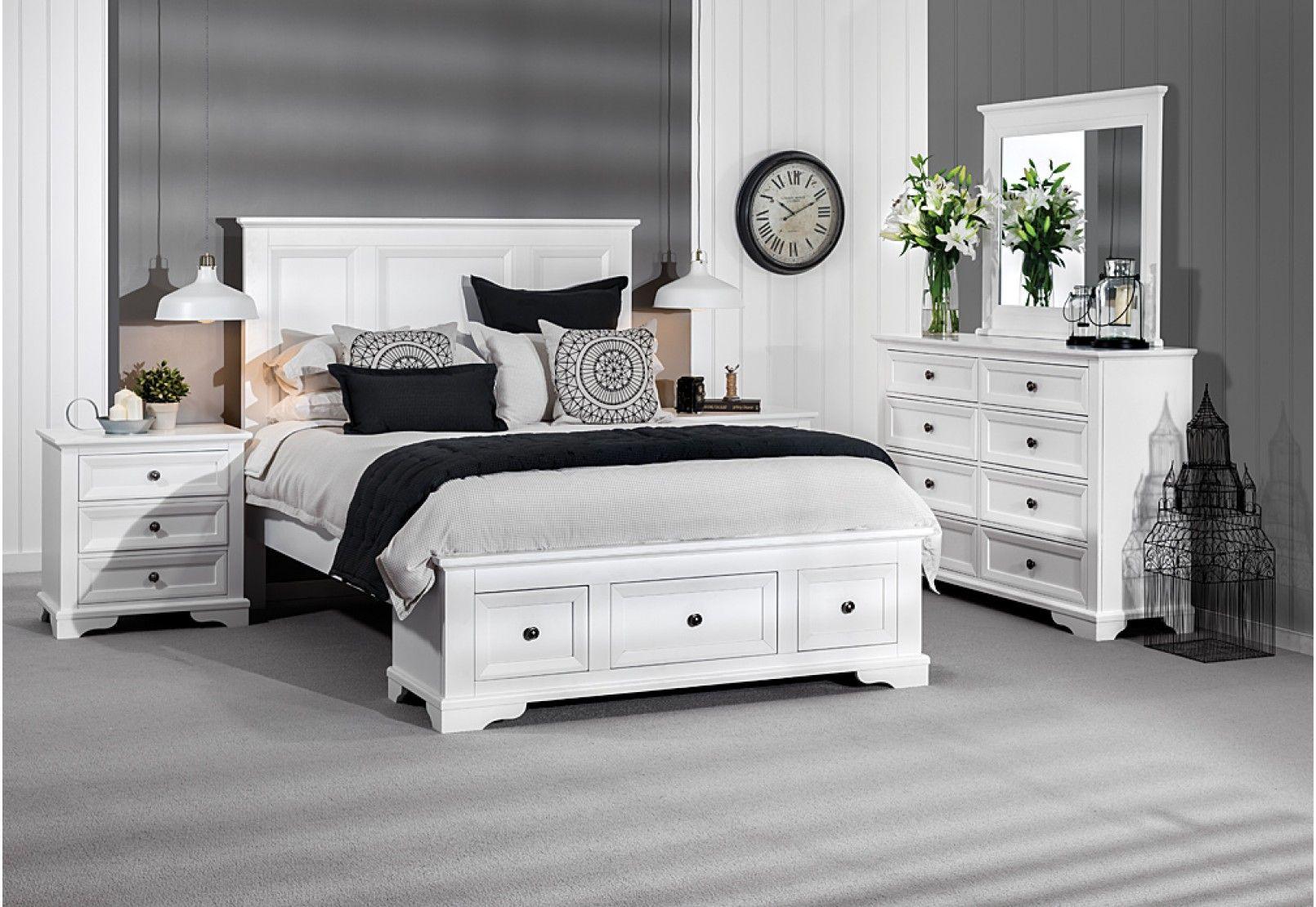 Quebec 4 Piece Dresser Queen Bedroom Suite Cheap Bedroom Furniture King Bedroom White Bedroom Suite