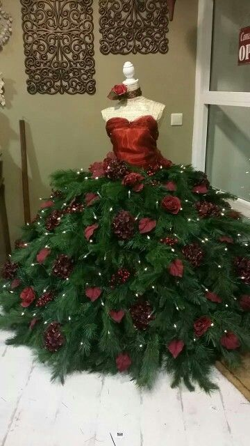 Ook Mooi Christmas Tree Dress Dress Form Christmas Tree Mannequin Christmas Tree