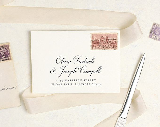 Printable Envelope Template for your wedding invitations, rsvps, or