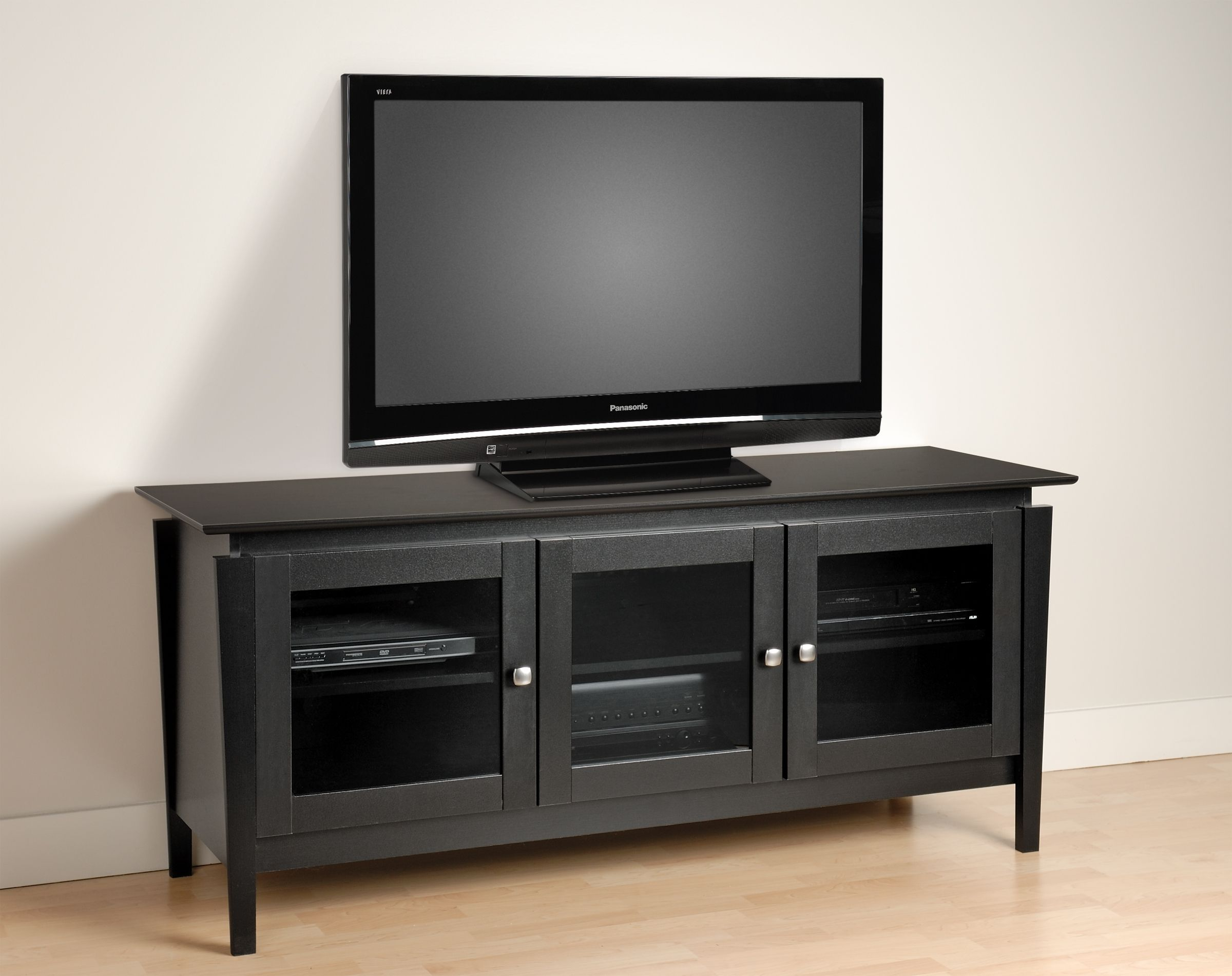 Tv Media Cabinets With Glass Doors Bruin Blog