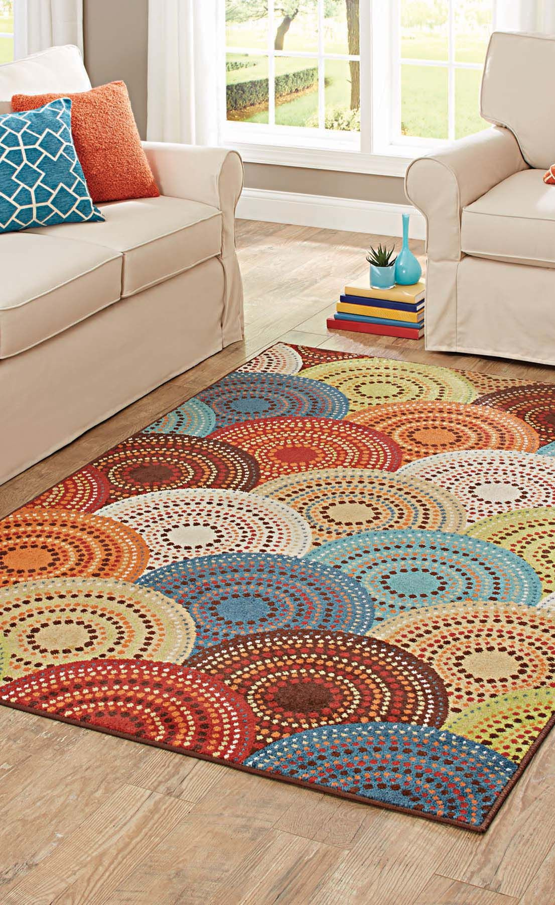 Better Homes And Gardens Bright Dotted Circles Area Rug Or Runner Walmart Com Trending Decor European Home Decor Cozy Decor