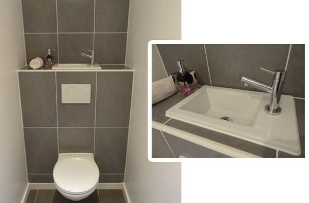 Bagno Piccolo Sottoscala : Un lave mains sur la chasse d eau bathroom bagno e