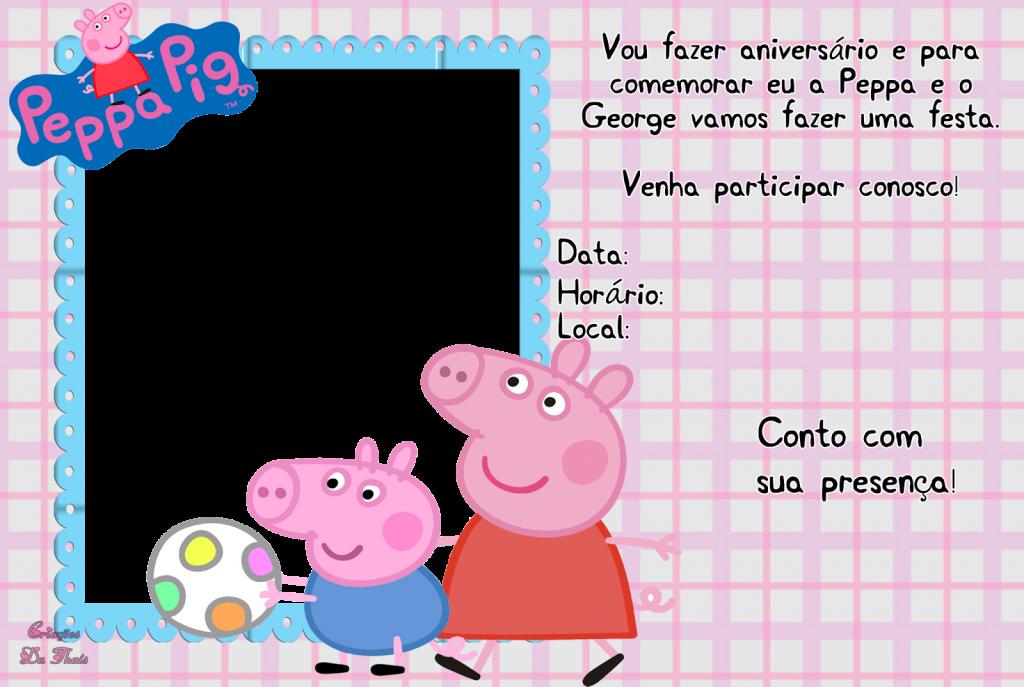 Pin Em Convite Peppa Pig