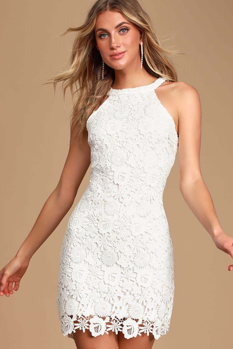 Love Poem Ivory Lace Mini Dress Lace White Dress Lace Bodycon Dress Ivory Lace Dress [ 1125 x 750 Pixel ]