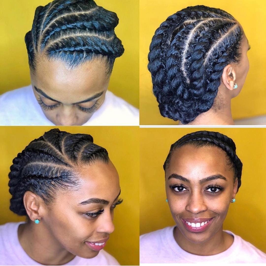 Love This Cute Protective Style Transformedbyo Follow Kinkyhairrocks For More Ama Flat Twist Hairstyles Natural Hair Braids Natural Hair Twists