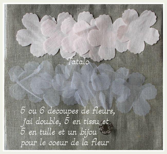 Un Tuto De Fleur En Tissu A Realiser Pinteres