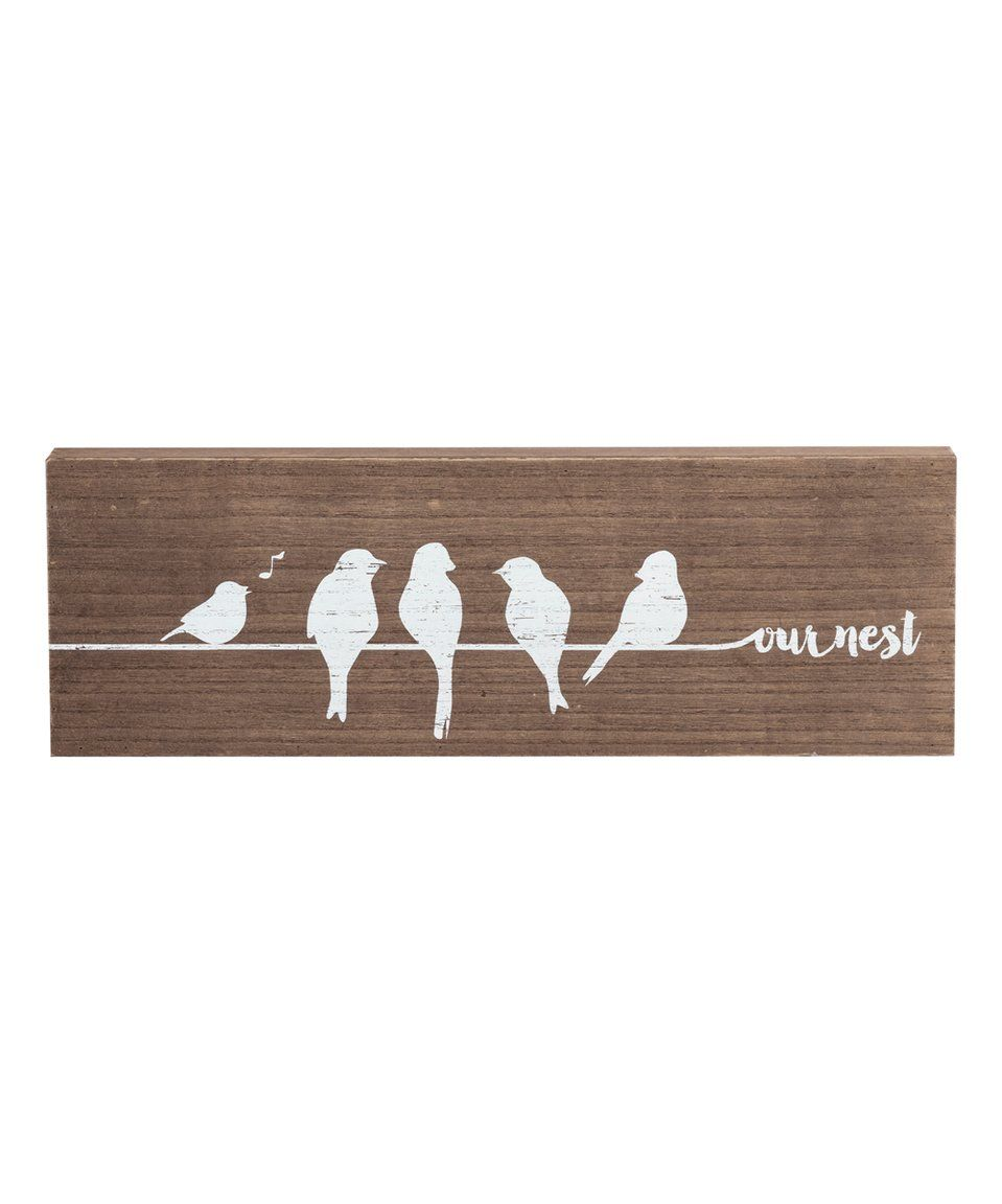 Take a look at this 'Our Nest' Wood Wall Sign today!