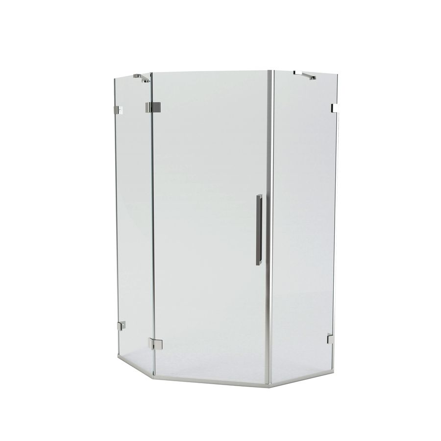 American Standard Axis 56 14 In W X 72 In H Frameless Neo Angle Shower Door Neo Angle Shower